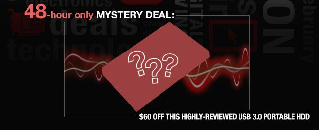 48 hour only mystery deal: 60 USD off this highly-reviewed USB 3.0 portable HDD