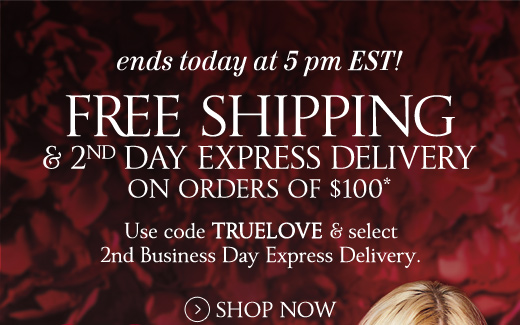 Ends Today! Free Shipping & 2nd Day Express Delivery on $100
