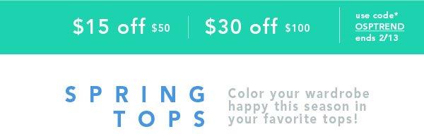 Shop Spring Tops
