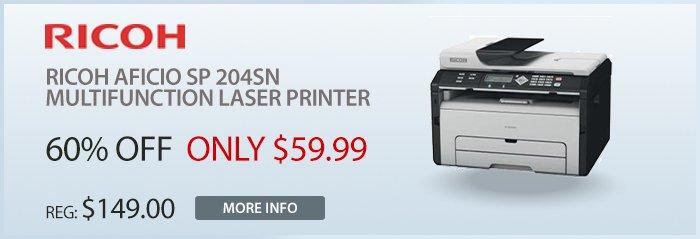 Adorama - Ricoh SP204SN B&W Multifunction Laser Printer