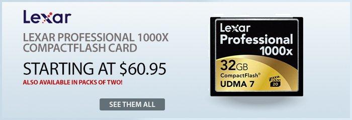 Adorama - Lexar 1000x Professional CF Cards