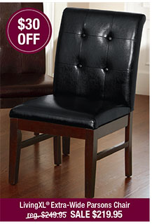 LivingXL® Extra-Wide Faux-Leather Parsons Chair