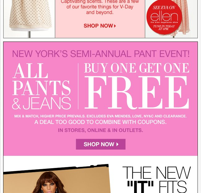 New York's Semi Annual Pant Event - BOGO FREE!