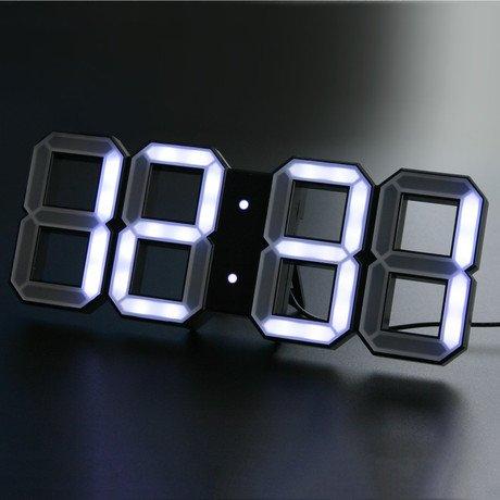 Digital LED Clock // White + Black