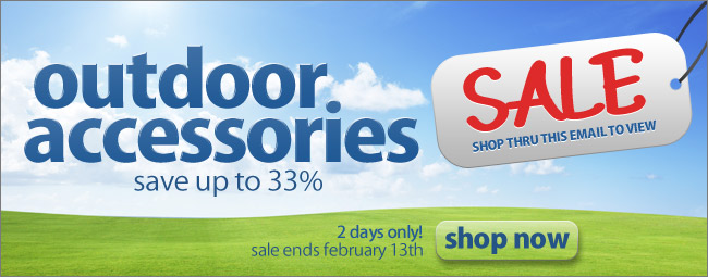 Outdoor Accessories Sale - Save up to 33% - Shop Now
