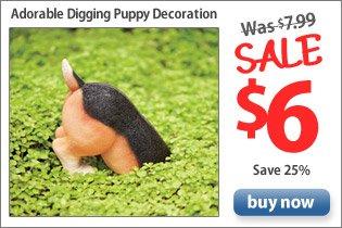 Adorable Digging Puppy Decoration