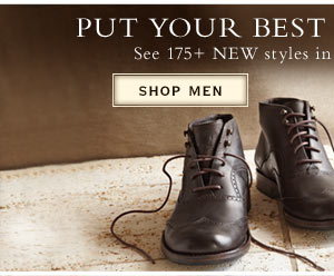 Put your best foot forward. See 175+ NEW styles in our footwear collection.         Shop Men's