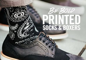 Shop Be Bold: Printed Socks & Boxers