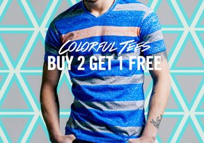 Shop Buy 2 Get 1 Free: Colorful Tees