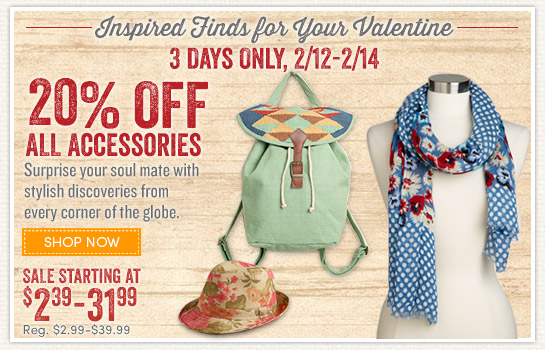 3 Days Only: Save 20% on All Accessories