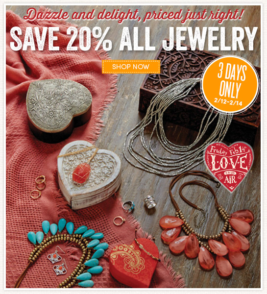 3 Days Only: Save 20% on All Jewelry