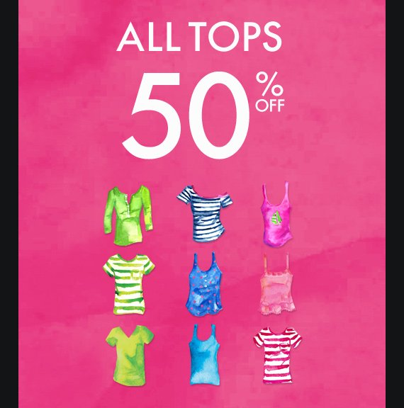 ALL TOPS 50% OFF