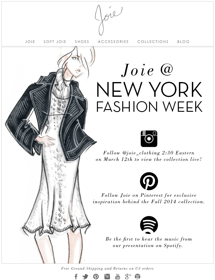 JOIE @ NEW YORK FASHION WEEK