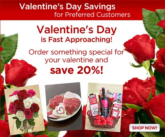 Save 20% on Valentine's Day Gifts!