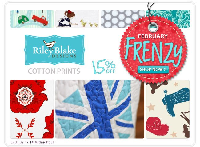 15% Off Riley Blake Cotton Prints