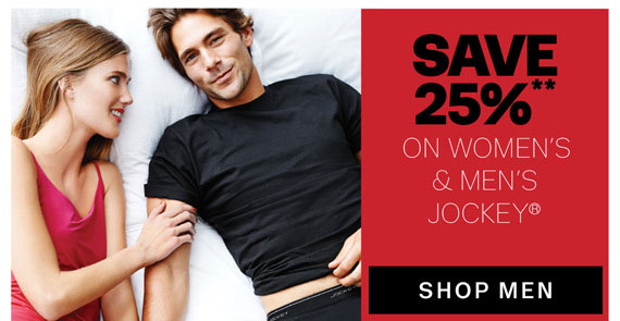 Save 25%** on Jockey® for Men