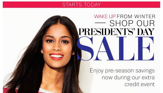 Starts Today. Wake Up From Winter - Shop Our President's Day Sale.