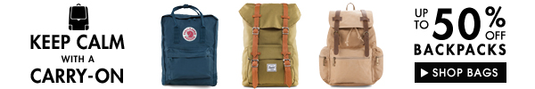 Backpacks up to 50% off