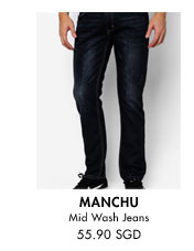 Mid wash jeans for 55.90SGD