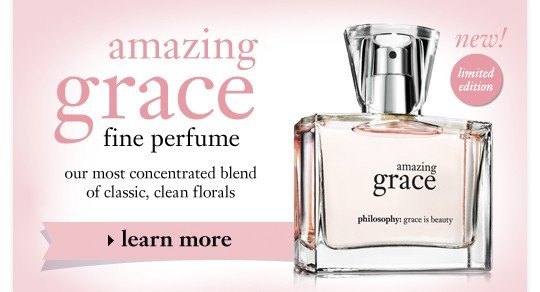 new! amazing grace fine perfume our most concentrated blend of classic, clean florals. learn more