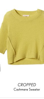 Textured Cashmere Cropped Sweater