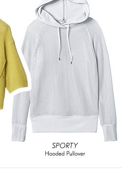 Hooded Mesh Pullover