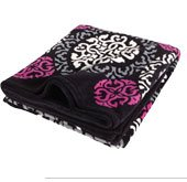 Throw Blanket in Canterberry Magenta