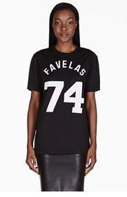 GIVENCHY Black Favelas Varsity T-Shirt for women
