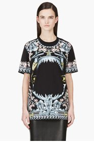 GIVENCHY Black Shark Jaw T-Shirt for women