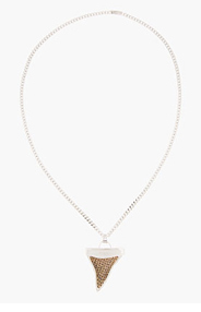 GIVENCHY Silver Shark Tooth Necklace for women
