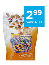 Friskies Original Crunch Party Mix Cat Treats only $2.99