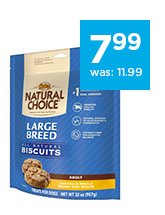 Nutro Natural Choice All Natural Large Breed Dog Biscuits only $7.99