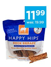 Dogswell Happy Hips Jerky Dog Treats only $11.99