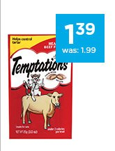 Whiskas Temptations Cat Treats only $1.39