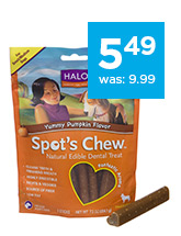 Halo Spot's Chew Dog Dental Treat only $5.49