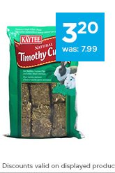 Kaytee Natural Timothy Hay Cubes only $3.20