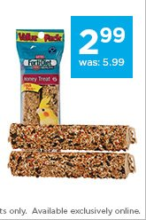 Kaytee Forti-Diet Pro Health Honey Stick Parrot Treats only $2.99