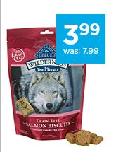 Blue Buffalo Wilderness Trail Treats Grain-Free Dog Biscuits only $3.99