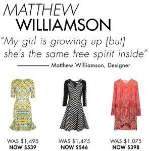 MATTHEW WILLIAMSON. SHOP NOW