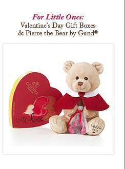 For Little Ones: Valentine's Day Gift Boxes & Pierre the Bear by Gund®