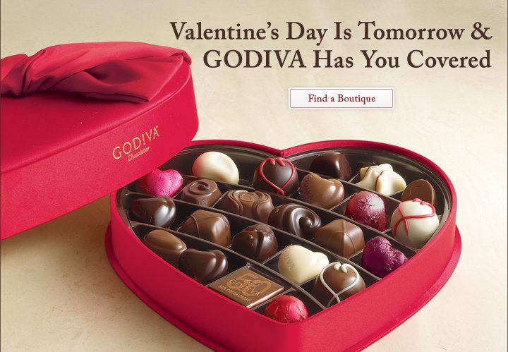 Valentine's Day Is Tomorrow & GODIVA Has You Covered - Find a Boutique