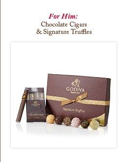 For Him: Chocolate Cigars & Signature Truffles