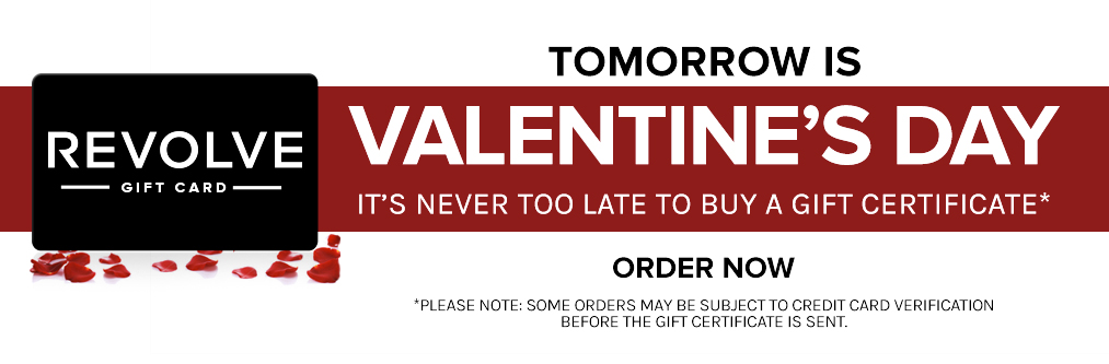 Tomorrow is Valentine's Day! It's never too late to buy a gift certificate