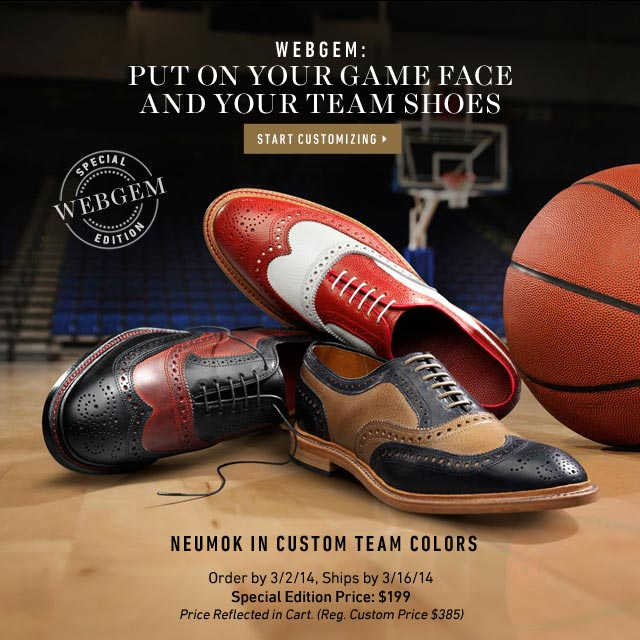 Put On Your Game Face And Your Team Shoes. Neumok in Custom Team Colors. Shop now >