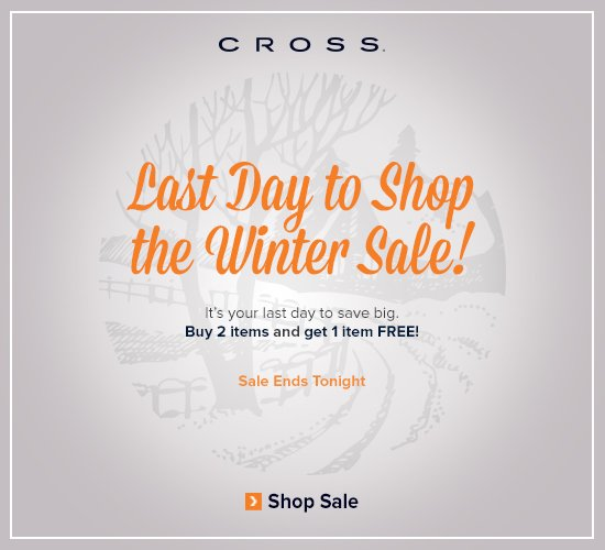 Winter Sale Ends Tonight!