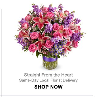 Straight From the Heart Same-Day Local Florist Delivery
