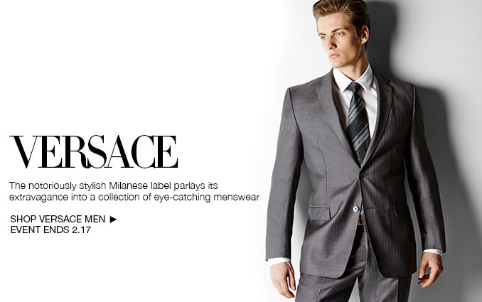 Shop Versace - Men's Suits, Dress Shirts, Ties and socks.