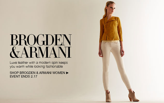 Shop Brogden & Armani.