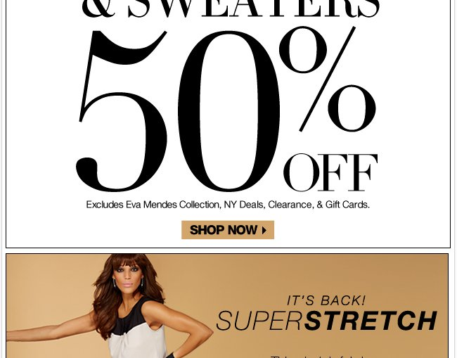 Today Only - 50% Off All Tops & Sweaters!