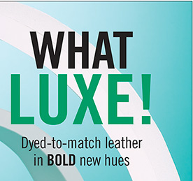 What LUXE! Dyed-to-match leather in bold new hues